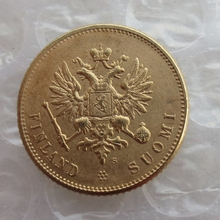 1913 S Gold Finland Imperial Russia 20 Markkaa  Gold Copy Coins