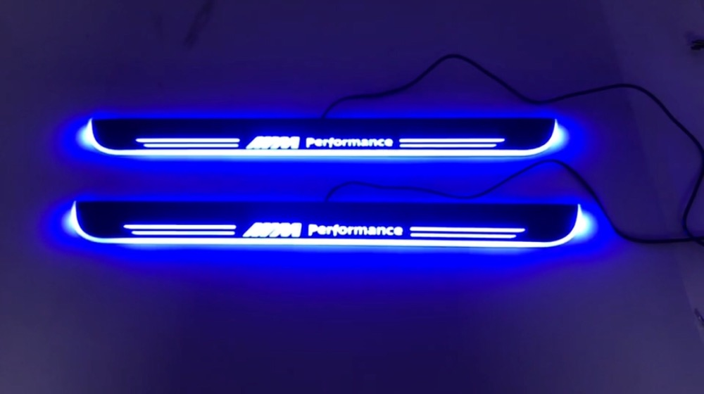 WOOBEST Waterproof Ultrathin Acrylic LED door sill for BMW 220i, Led moving door scuff plate, Pathway light woobest acrylic led door sill for jaguar xf 2010 15 jaguar xj xjl 2010 15 led moving door scuff plate pathway light