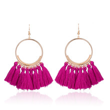 2018 Fashion Bohemian Ethnic Fringed Tassel font b Earrings b font for font b Women b