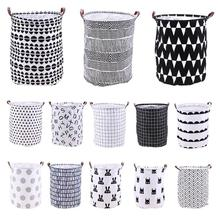 Berdiri Mainan Pakaian Penyimpanan Bucket Folding Laundry Basket Cartoon Storage Barrel Laundry Organizer Holder Pouch Household