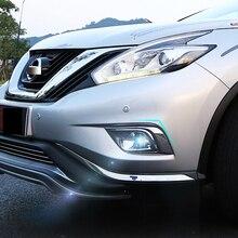 Для Nissan Murano 2015 2016 2017 2018 интимные аксессуары автомобиль Стайлинг ABS пластик передние противотуманные свет лампы Крышка отделка