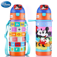Creative Puzzle Feeding Cup Mickey Minnie Bottle For Baby Drink Multifuctonal Water Cup 400ML Thermos Cup