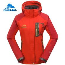 2017 Ladies 3in1 Windbreaker Waterproof Warm Outdoor Winter Jacket Women Sports Climbing Jaqueta Feminina Hiking Camping Coat