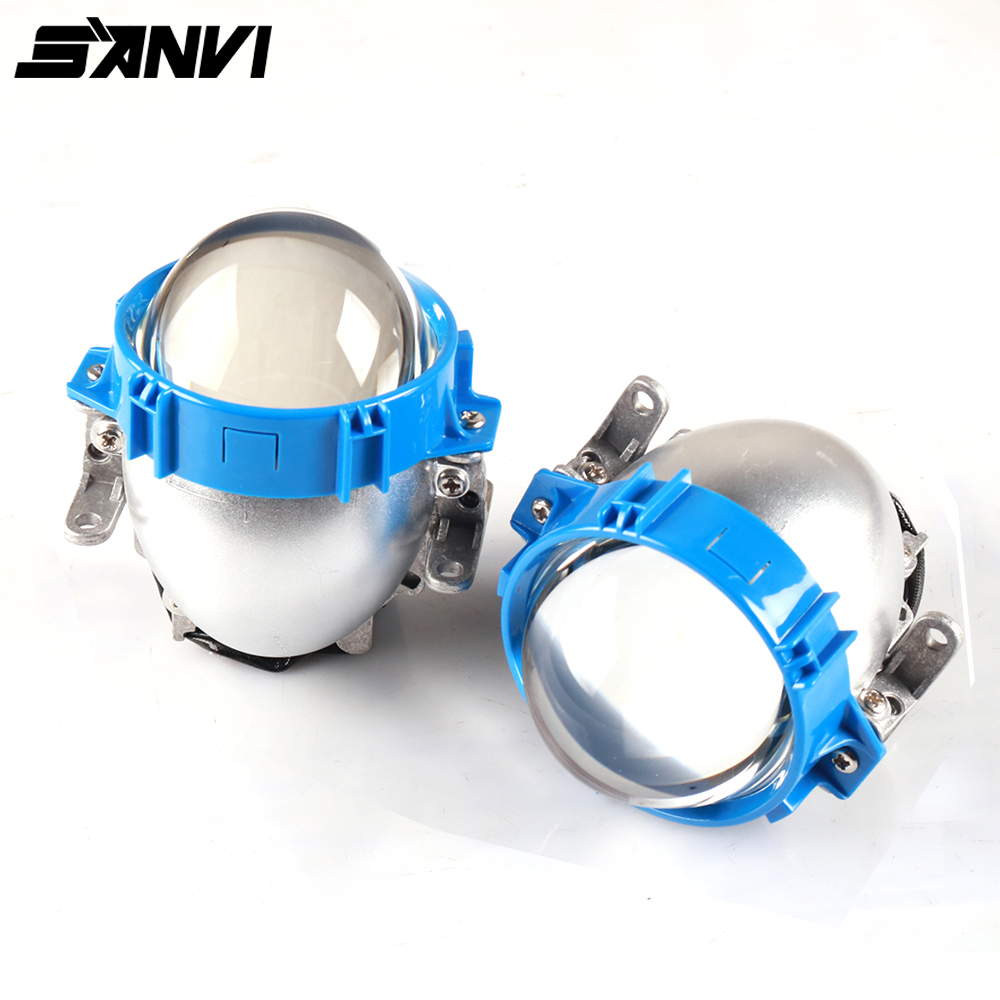 2PCS Sanvi 2 5 inch 35W 5500K Bi LED Projector Lens Headlight 12V Hi Low Beam
