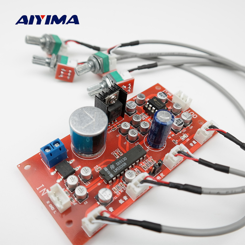 AIYIMA LM1036 Tone Board Bass Treble Balance Volume Control Adjustment NE5532 OP AMP HIFI Preamplifier Amplifier Single Power