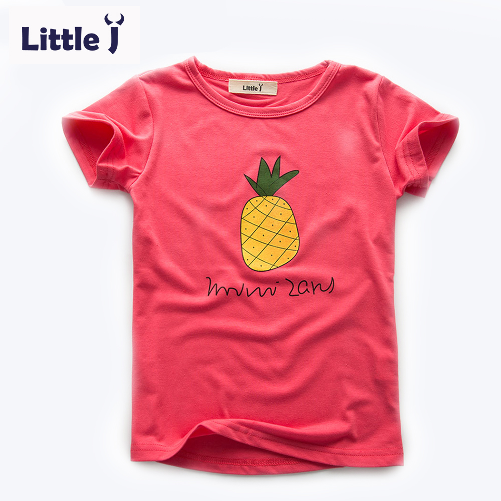 Clearance cartoon pineapple boy t shirt cotton printing for Cheap t shirt printing no minimum