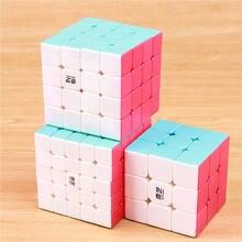Qiyi guerreiro 3x3x3 velocidade cubo mágico stickerless 4x4x4 quebra-cabeça profissional cubo 5x5x5 cubos suavemente brinquedos educativos