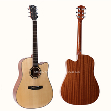 Professional Cutaway 41 Acoustic Guitars,Solid Spruce Top/Mahogany Body guitarra With Hard case,gloss