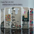 Caso para lg g3 tampa do caso pc pintado bonito dos desenhos animados linda uv imprimir rígido capa housing case for lg g3 d859 d858 d857 casos Shell
