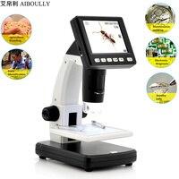 AIBOULLY UM038 Цифровые микроскопы с Экран 20X 300X зум электронная лупа с светодио дный свет мобильный телефон ремонт инструмента Животные