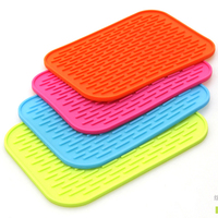 1pc Rectangular Silicone Heat Insulation Dinner Table Mat Cup Mug Dish Coaster H0004809 10 11 12