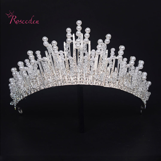 Crystal Tiara Bride Wedding Hairband Queen Pageant Prom
