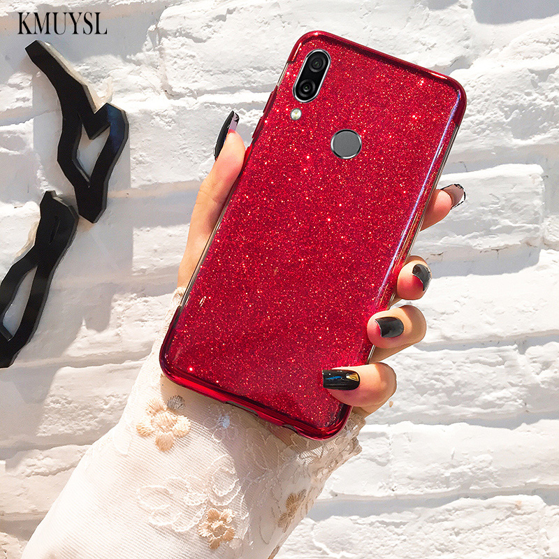 Glitter Plating TPU <font><b>Case</b></font> For <font><b>Huawei</b></font> Y9 <font><b>Y7</b></font> Pro Y6 P Smart <font><b>2019</b></font> P10 P20 P30 Lite Mate 20 Lite Honor 8X 7A Pro Mate 10 Lite Cover image