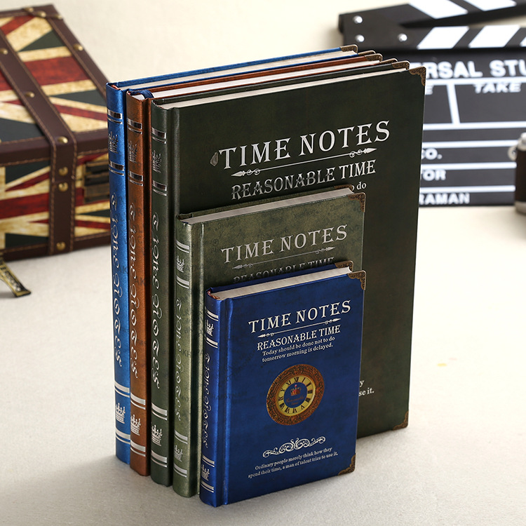 2017 College students book time notes notebook stationery vintage office notepad agenda journal composition book upstream proficiency c2 students book
