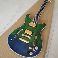 Galilee Custom shop,High Quality Double f hole electric guitarr with rosewood fingerboard,,Wholesale,free shipping!