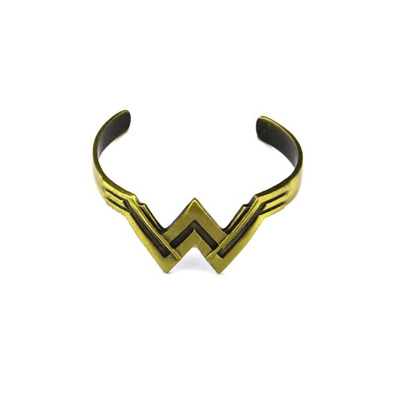 WONDER WOMAN brushed bronze bangle cuff DC Comics Movie Logo bracelet
