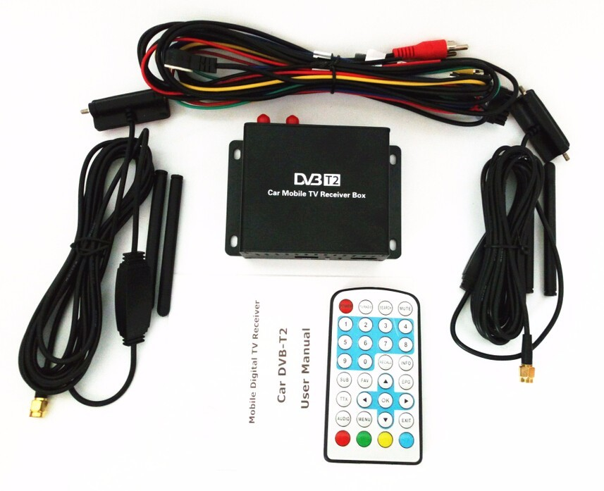 Car  Receiver for Russian Colombia Thailand USB DVB-T2 Android TV dvbt2 Digital car Tv Tuner Europe Single Antenna dvb t2 M789  60km h 1080p car dvb t2 mobile digital tv tuner receiver box for russian colombia one seg free shipping