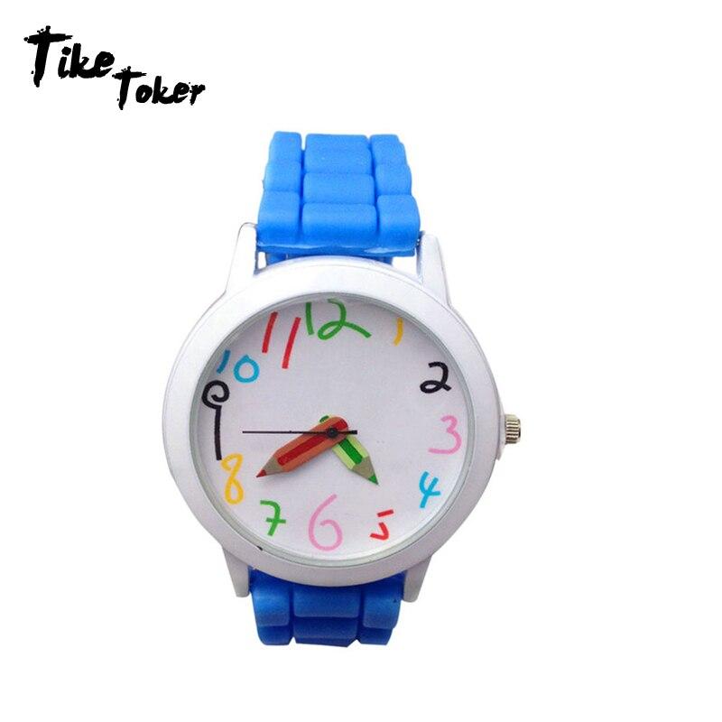 TIke Toker,Brand Sweet Jelly Silicone Pencil Watch Fashion Women Wristwatch Casual Luxury Dress Watches Relogio Feminino 07