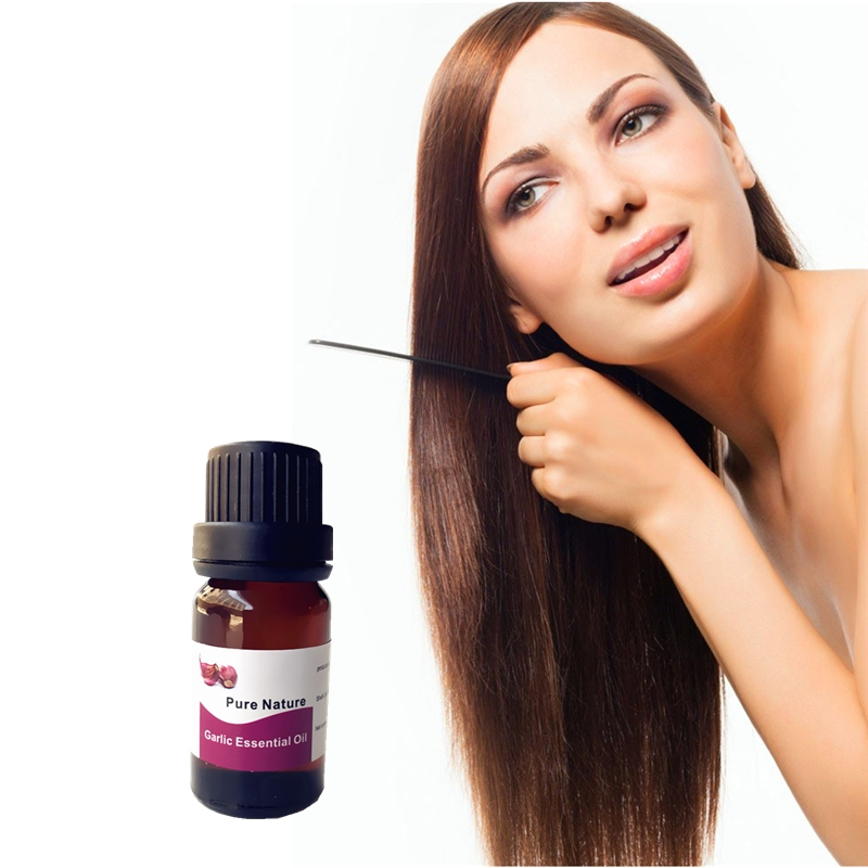 10ml Hair Building Garlic Essential Oil Fibers Non Synthetic to give a Full Thicker Hair for Baldness,Balding areas image