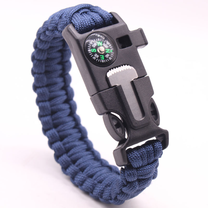 Multi Functional Tactical Paracord Bracelet Survival Rescue Rope Light Climbing Paracord Charm Cord Outdoor Tools For Man Woman