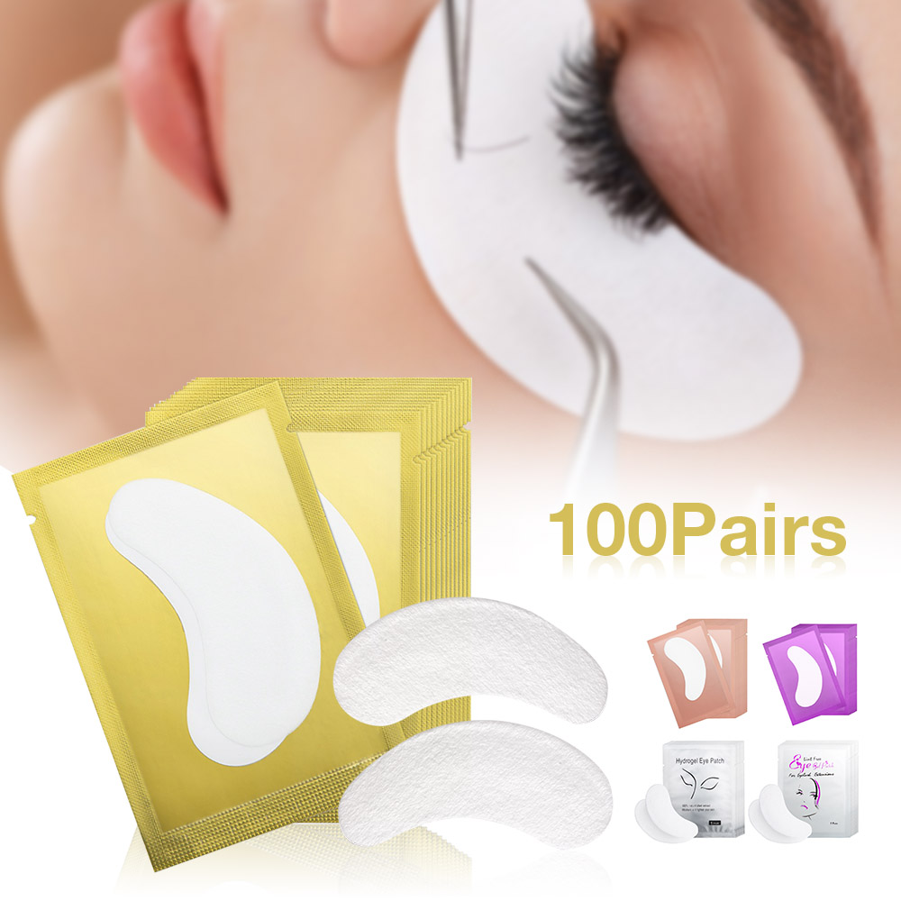 100pairs/pack New Paper Patches Eyelash Under Eye Pads Lash Eyelash Extension Hydrating Eye Tips Sticker Wraps Make Up Tools(China)