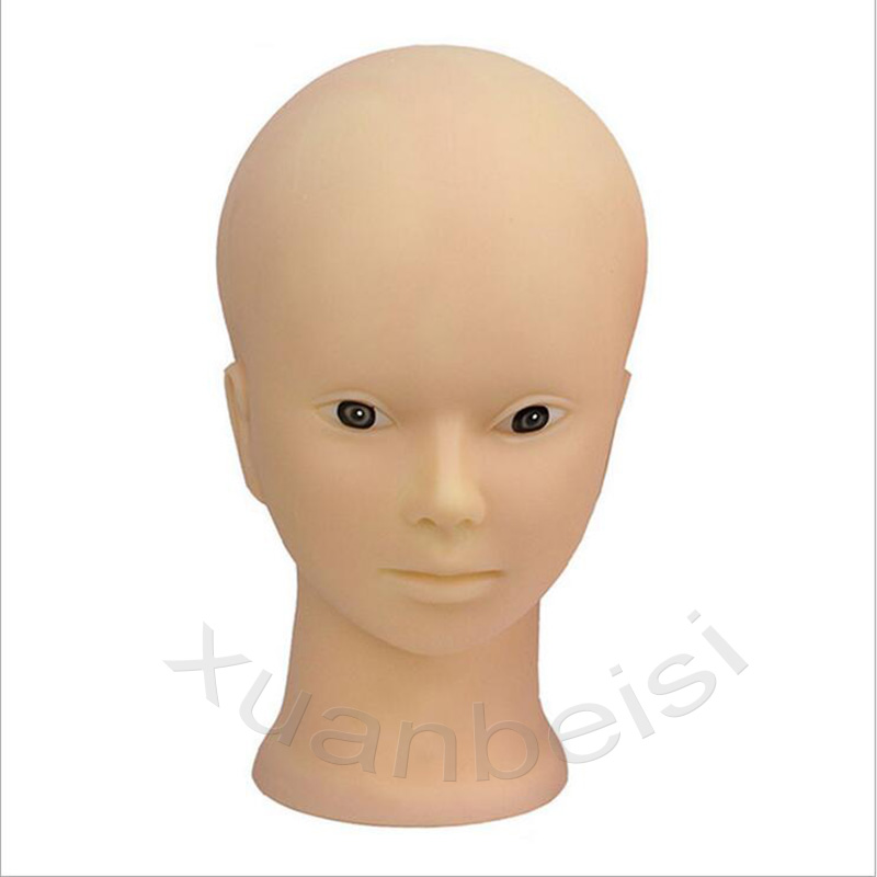 52cm Bald Mannequin Head With Black Table Stand Female Manikin Head For Wig Making Hat Display Maniquin Head Wig Holder