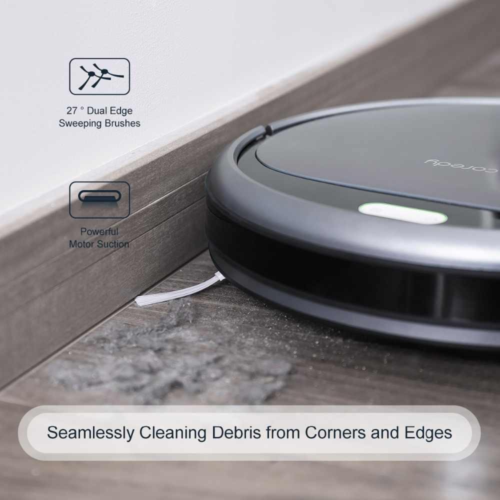 Coredy R300 умный робот 1400PA пылесос для уборки пола ковра перезаряжаемое устройство управления Роботизированный пылесос для домашнего питомца