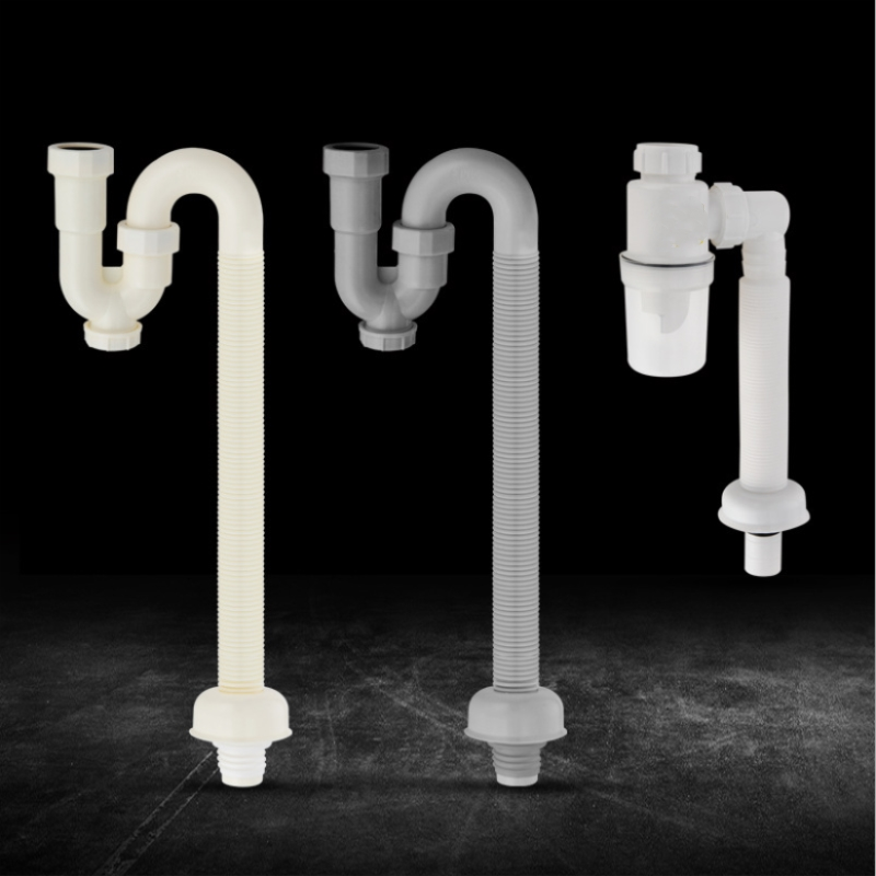 1pc New Design S Curve Deodorization Sink Drain Hose Bathroom Basin Insect Prevention Drain Pipe Unique Plumbing Hose