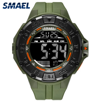 SMAEL Military Men's Watches Sports Wristwatch Men Waterproof Fashion Sport Waches Digital Electronic Clock Reloj Hombre Relgio image