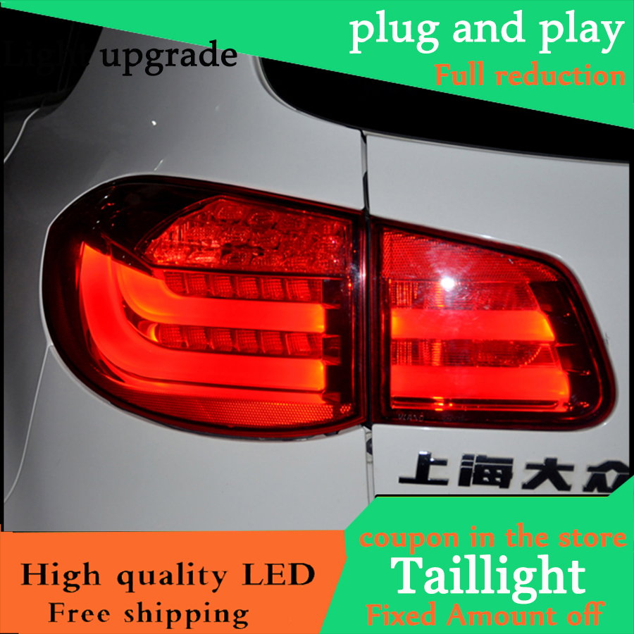 Car Styling Case For Volkswagen VW Tiguan 2010 2011 2012 Taillights LED Tail Light Rear Lamp