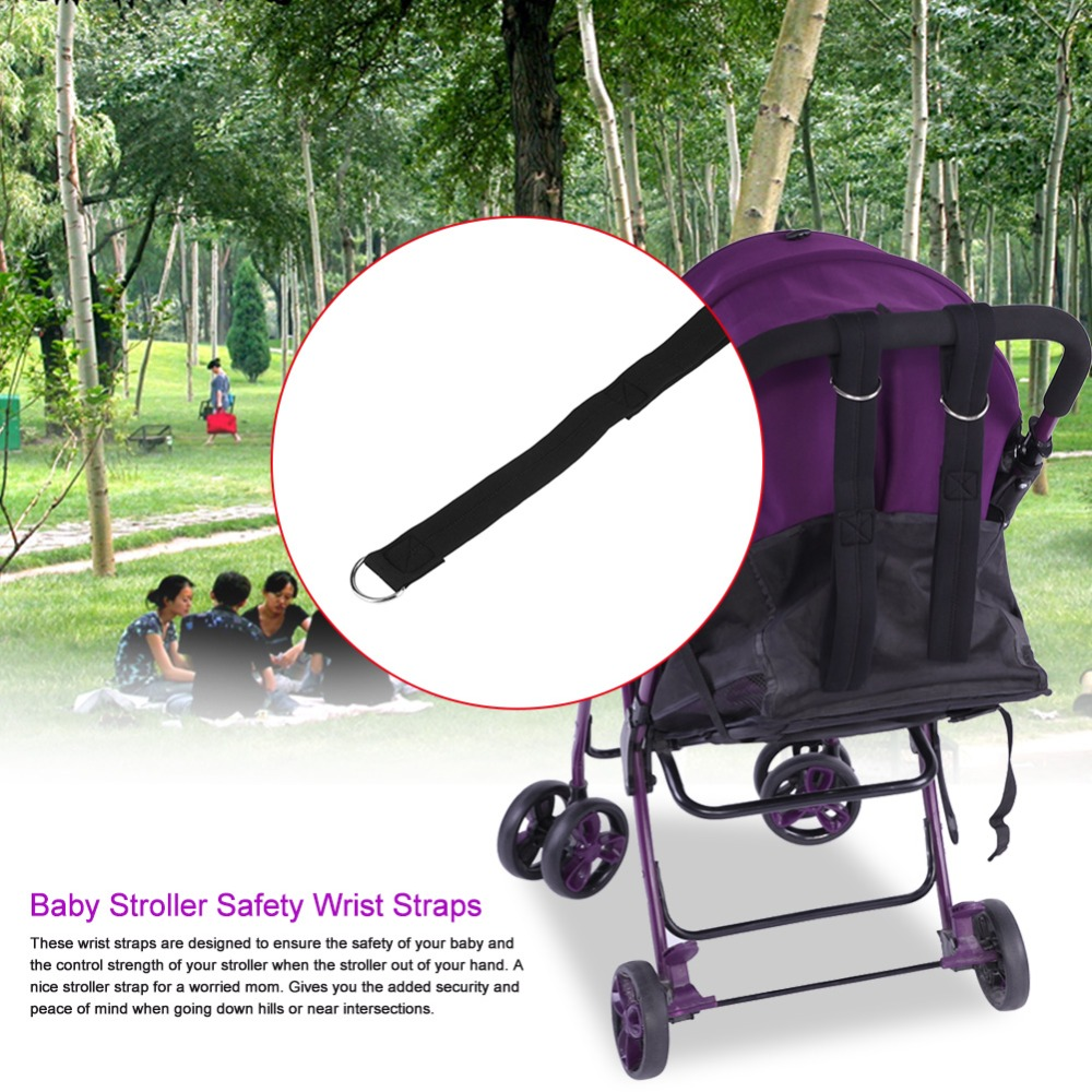 Infant Baby Stroller Hook with Hook Loop PU Leather Alloy