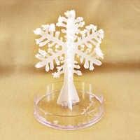 2019 12x8 cm DIY Weiß Magische Wachsende Papier Schneeflocke Baum Magische Wachsen Schneeflocken Flattern Kristall Schneemann Bäume Flocken kinder Spielzeug