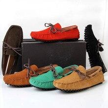 США SZ6-10 НОВЫЙ Кожаный Галстук Мужчины Поскользнуться на Loafer Повседневная Вождения Автомобиля Обувь Мода