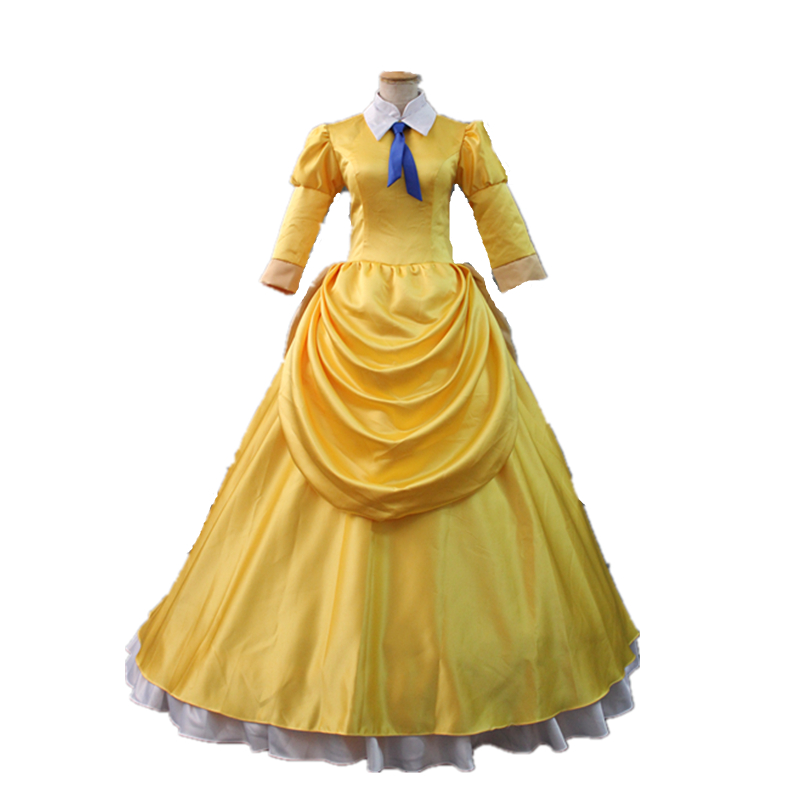 Tarzan & Jane Cosplay Costume Halloween Costumes Adult Yellow Princess Jane Dress Fancy Jane Costume Custom Made