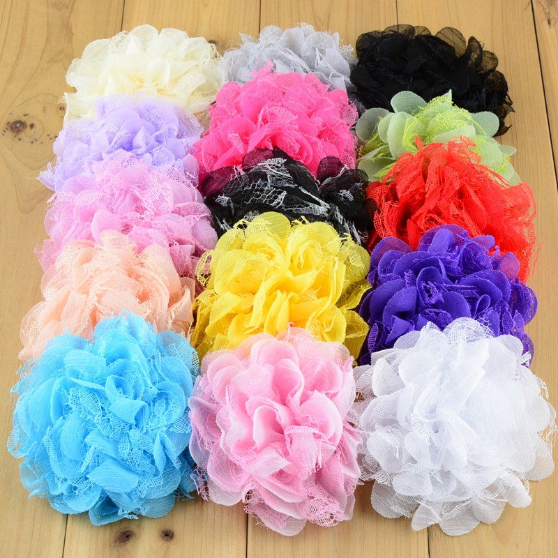 Hot Sale Quality Chiffon Lace Flower For girls Headbands Hair Accessory 120pcs lot Freeshipping MH21