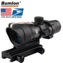 US Stock Hunting Riflescope ACOG 4X32 Real Fiber Optics Red Green Illuminated Reticle Tactical Optical Sight RL6-0006 цены
