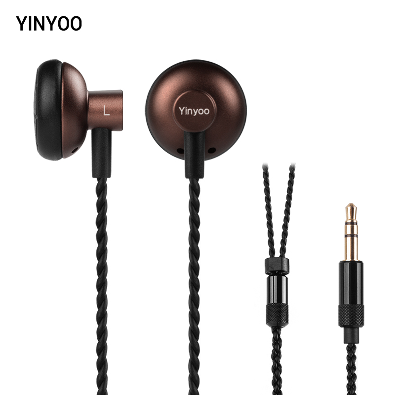 New Arrived Yinyoo Tank In Ear Earphone Earbud 32ohm Dynamic Flat Head Plug High Impedance Earbuds Kill Monk MX500 all new fiio f3 dynamic in ear monitors earphone with in line microphone and remote controls 3 5mm l shaped jack colorful earbud