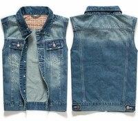 Summer 2014 New Men S Jeans Jacket Vest Denim Blue Coats Men Casual Sleeveless Waistcoat Mens