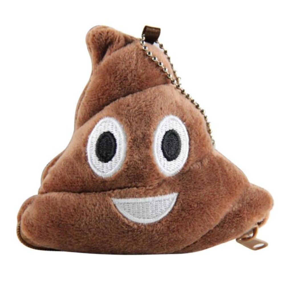 Hot Sale New Fashion Portable Poo Pillow Plush Soft Emoji Emoticon Coin Purse Gift Cheap Lightweight Ladies Wallet