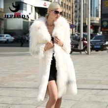 JEPLUDA The Latest Model Luxurious Natural Real Fur Coat Fox Patchwork Lamb Fur Soft Warm Real Fox Fur Coat Grace Women Jacket