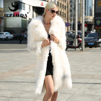 JEPLUDA The Latest Model Luxurious Natural Real Fur Coat Fox Patchwork Lamb Fur Soft Warm Real Fox Fur Coat Grace Women Jacket