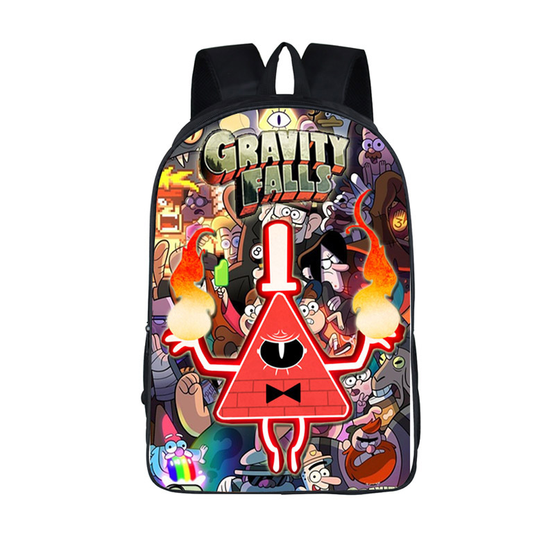 gravity falls mochila para adolescente Boys Girls Schoolbags : Mabel Pines , Dipper Pines , bill Cipher