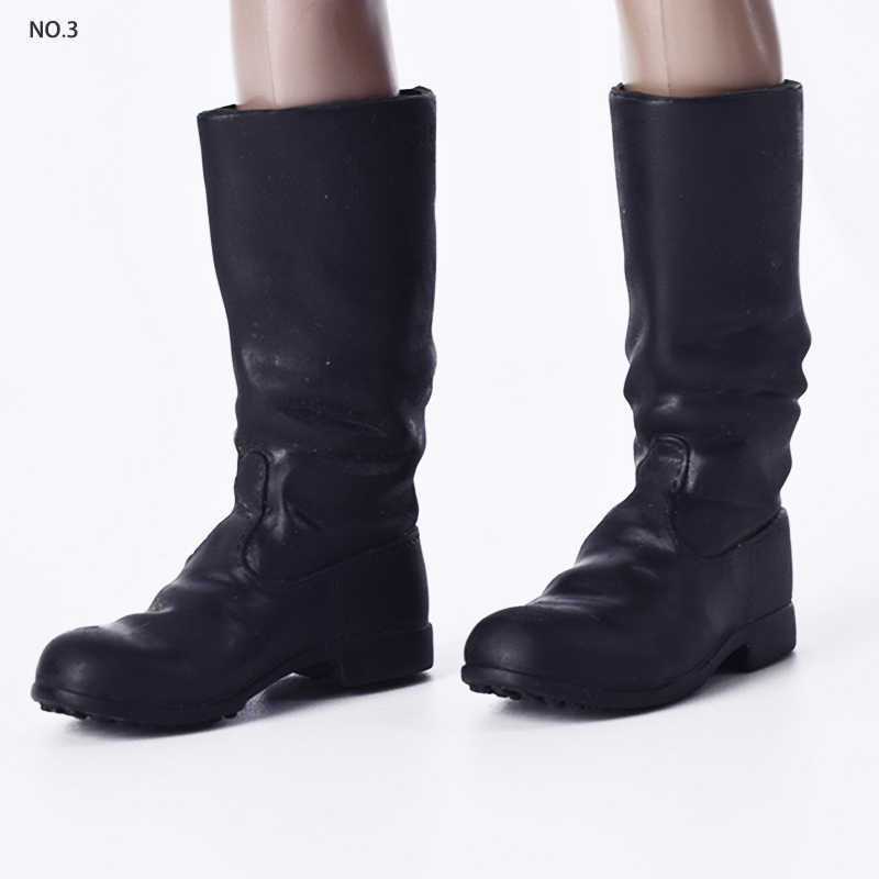 1//6 Scale Male Soldier Combat Boot Shoes for 12inch Hot Toys Action Figure