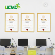 Office Store A3 Certificate Frame Magnetic Photo Picture Frame wall mounted picture poster document display frame Plastic Sheet(China)