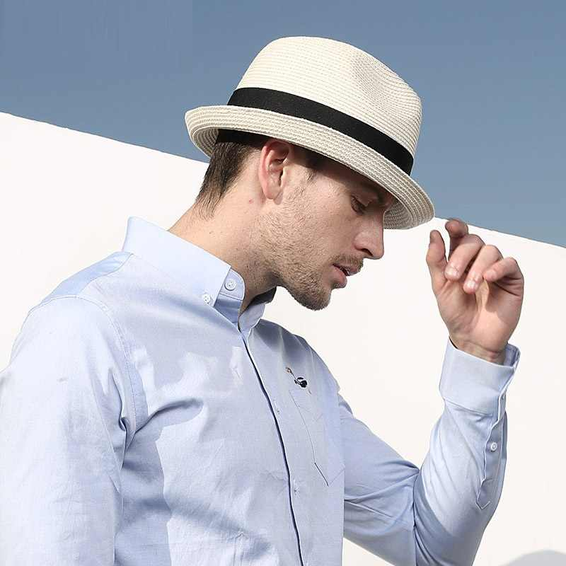 a5486a763 Detail Feedback Questions about New Men's Sunshade Hat Adult Straw ...