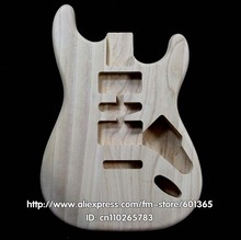 Platane madera de la guitarra eléctrica body electric guitar kit kits platane madera ST estilo