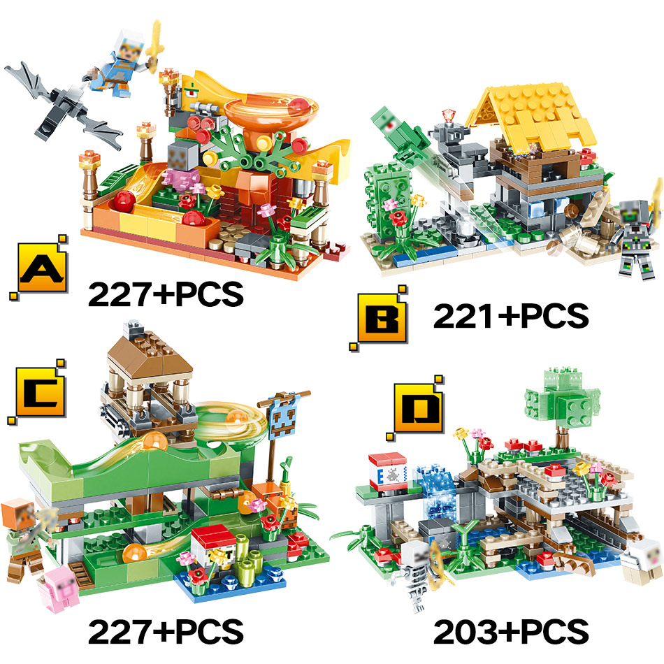 Toys & Hobbies 2018 Hot Building Blocks Legoinglys Minecrafte Tree House Village Series 3 In 1 Diy Guard Educational Toys For Children A Great Variety Of Goods