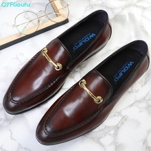 2019 Luxury Designer Men Genuine Leather Dress Shoes Wedding Brand Male Oxford Shoes High Quality Italian Men Shoe spring plus size 36 46 male shoes casual fashion men s genuine leather moccasin luxury brand designer italian men flata shoe 5