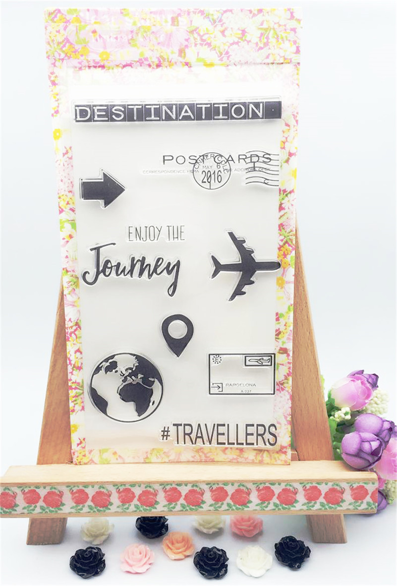2016 new paper craft stamps Scrapbook DIY Photo Album silicone clear Stamps cartoon air travel Adventure CL-013 ylcs221 animals silicone clear stamps for scrapbook diy album paper cards decoration embossing folder craft rubber stamp 11 16cm