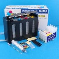 Kit Universal 4 Cores CISS Sistema de Abastecimento Contínuo de Tinta com completa Accessaries Tanque de Tinta para EPSON C63 C65 C83 CX3500 CX4500 CX6500
